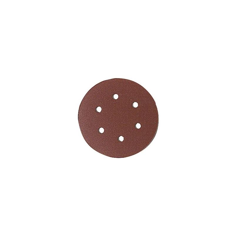 DISQUE PONCEUSE ORBITALE GRAIN 80 D.150 VELCRO 6 TROUS