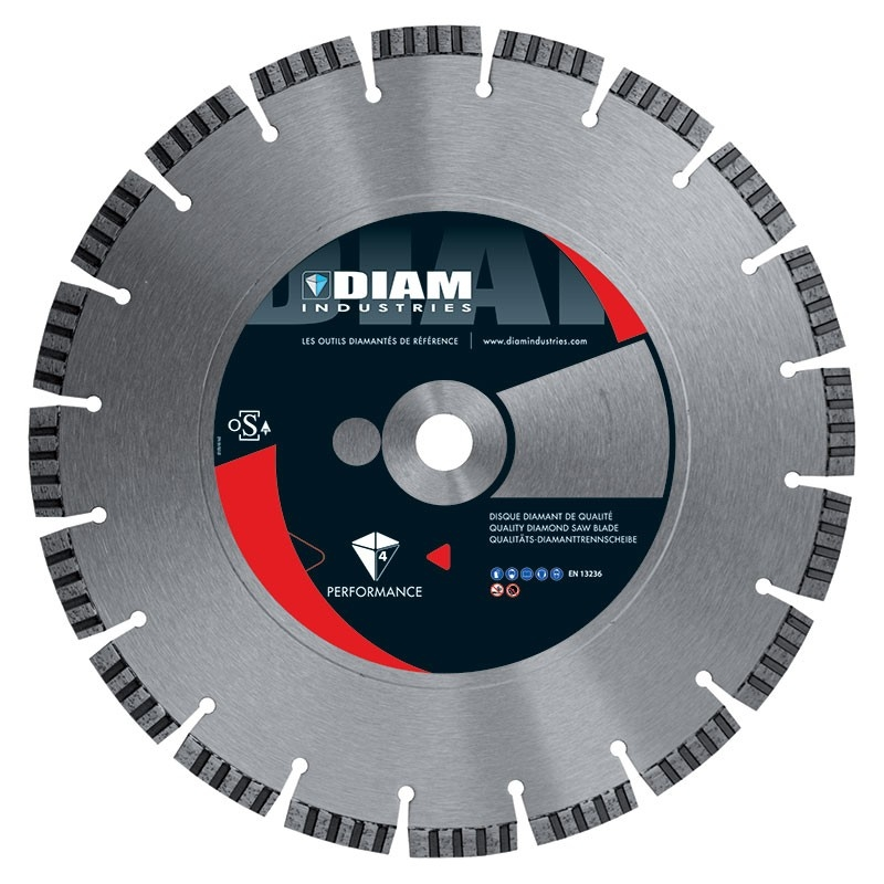 DISQUE DIAMANT BETON - UNIVERSEL MATERIAUX Ø450MM