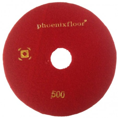 PAD RESINE N°5 ROUGE GRAIN 500 Ø160MM