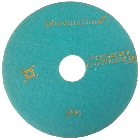 PAD RESINE N°4 BLEU PALE GRAIN 300 Ø185MM