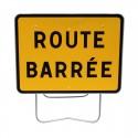 Location panneau route barrée