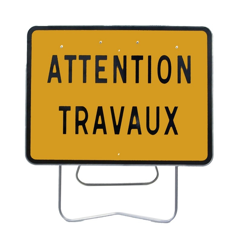 Location panneau attention travaux