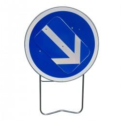 Location panneau contournement obligatoire par la droite