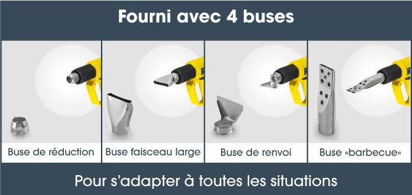 buses pour location de decapeur thermique ou pistolet a air chaud