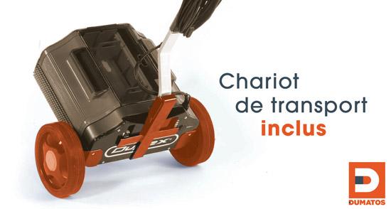 Chaariot de transport pour rotowash duplex