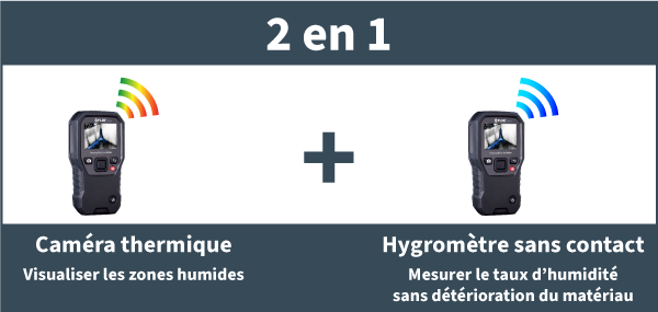 Location d'hygromètre testeur d'humidité avec caméra thermique pour detection des moisissures