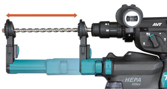 Perforateur avec aspirateur intégré