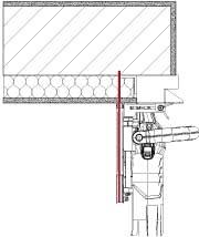 Placer la machine dans   la feuillure et découper le mur